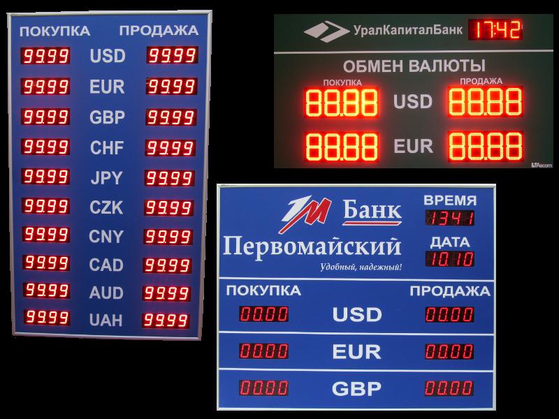 Курсы валют в самарских банках